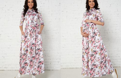 Длинные вечернее платья для беременных