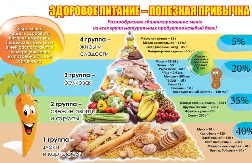Важные советы по правильному питанию
