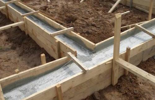 Строительство любой постройки начинается с закладки фундамента
