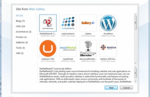 Microsoft WebMatrix - новое средство для создания веб-сайтов
