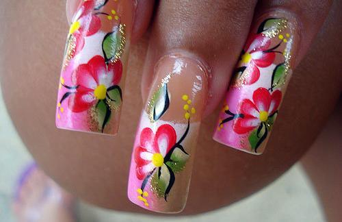 Цвета и формы рисунки на ногтях.
