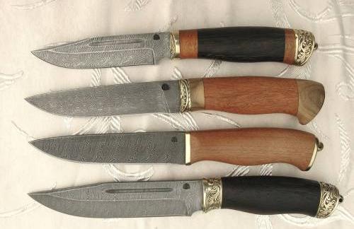 Авторские ножи из дамасской стали