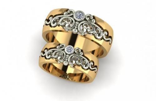 Обручальные 3D кольца в интернет-магазине ювелирных изделий «Yudi.com.ua»